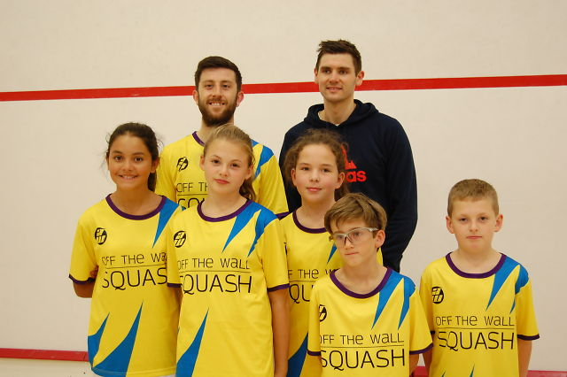 Fun and games at launch of Off The Wall Squash Academy