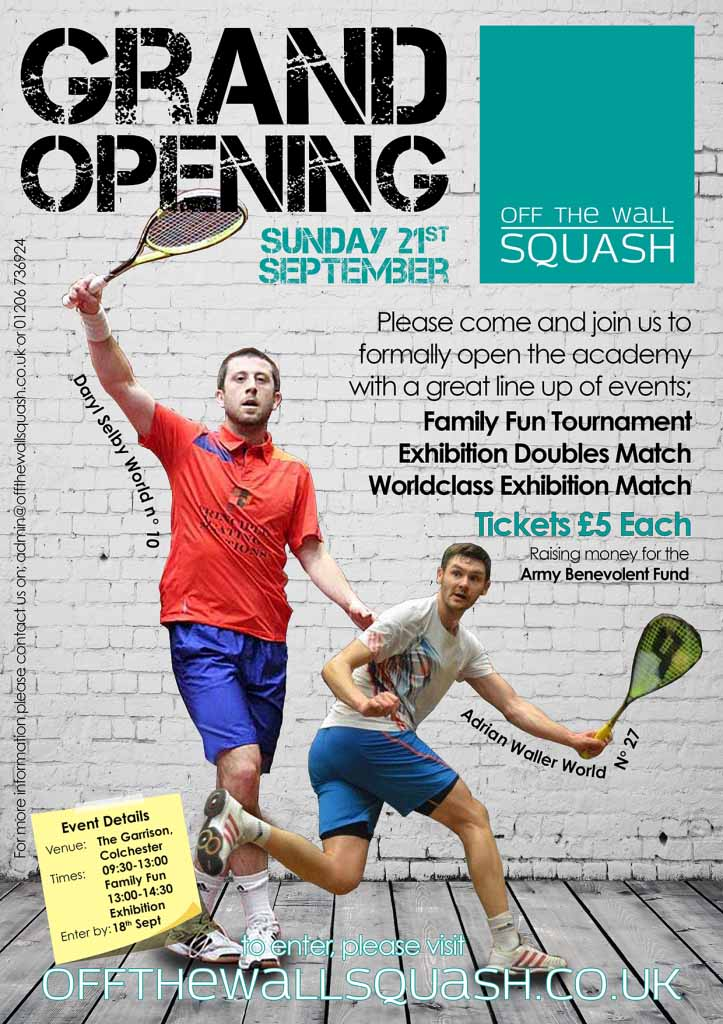 PSA stars top the bill at Off The Wall Squash Grand Opening