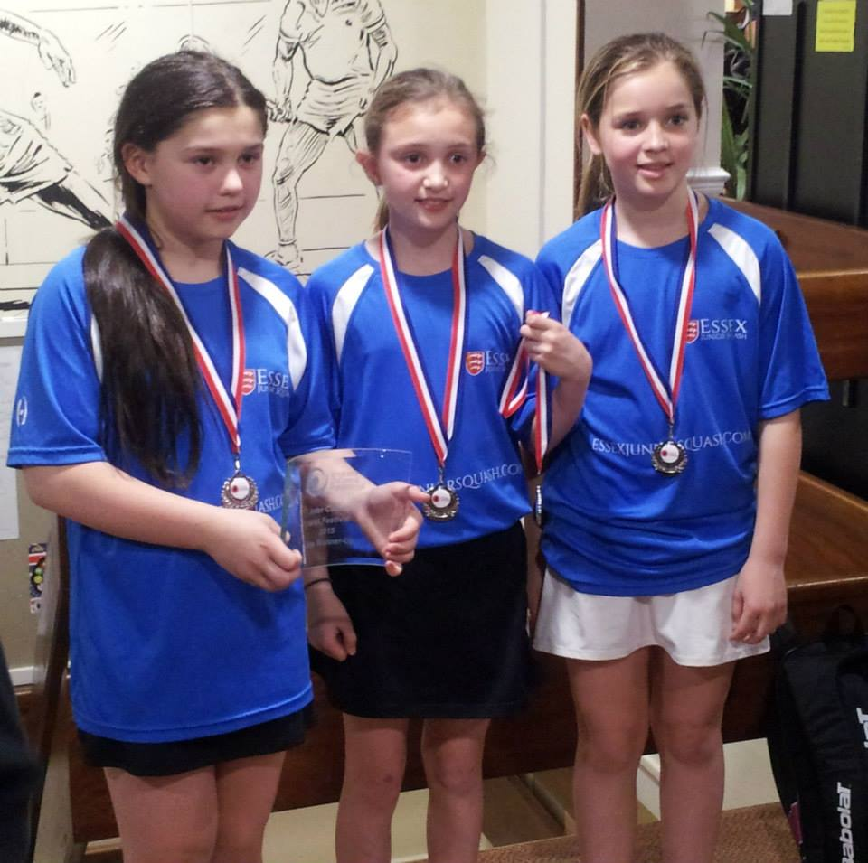 Hannah, Mikayla and Alice cap a glorious weekend for Essex squash