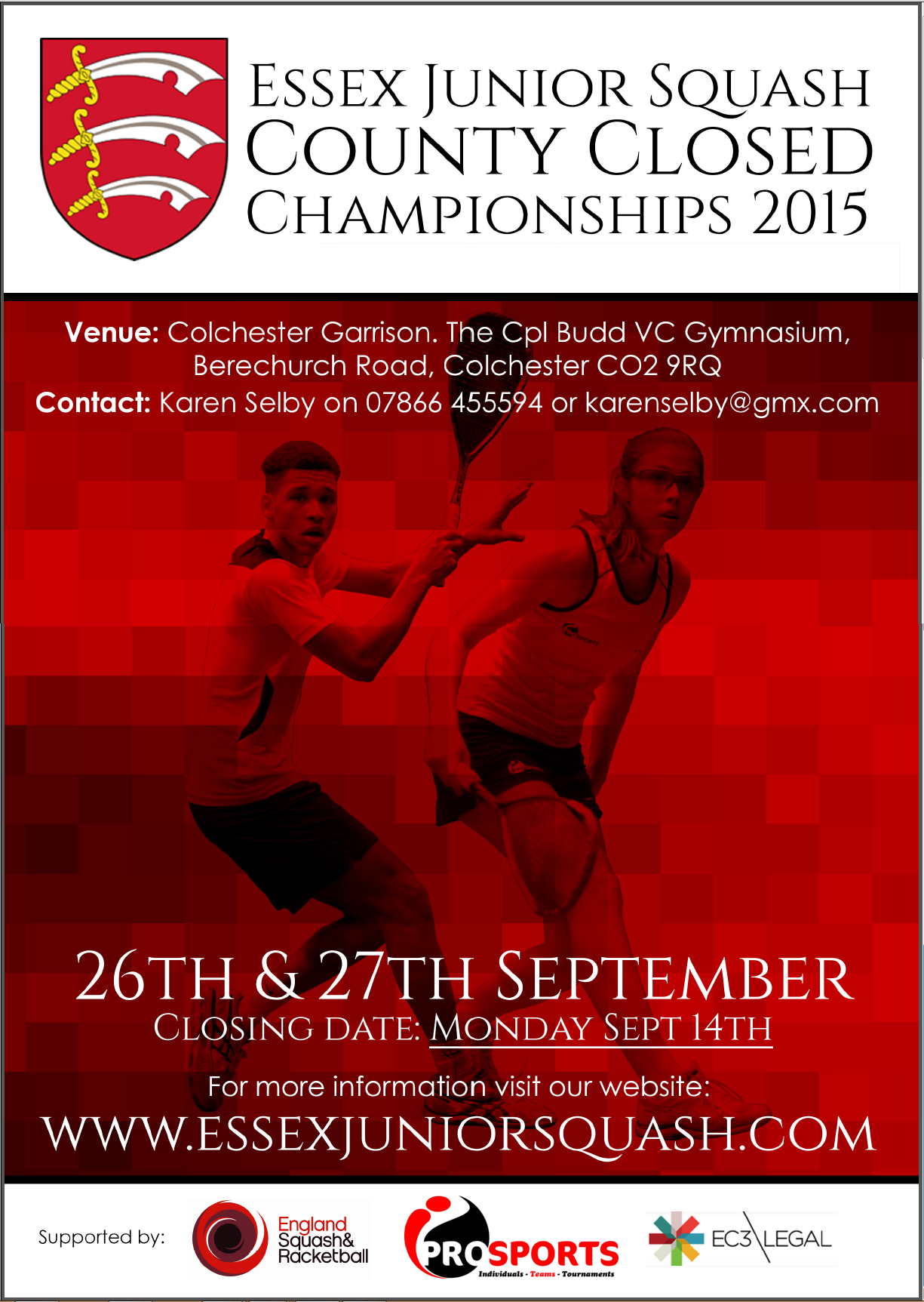 Essex Junior Closed entries end on Monday Sept 14th