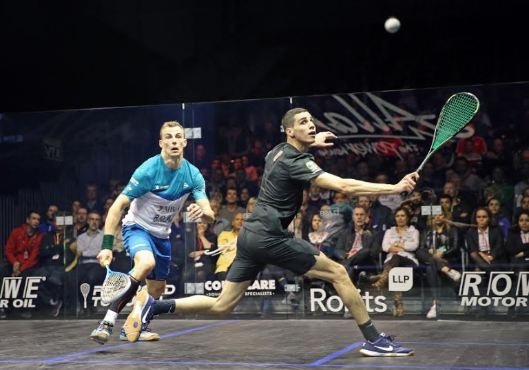 Ramy pulls off great escape but it's curtains for Nick Matthew