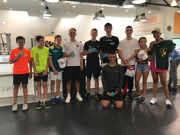 Junior players help shape the future of squash