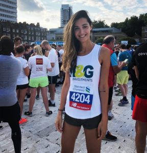 Ariel Reid at the standard and chartered great city race 2018