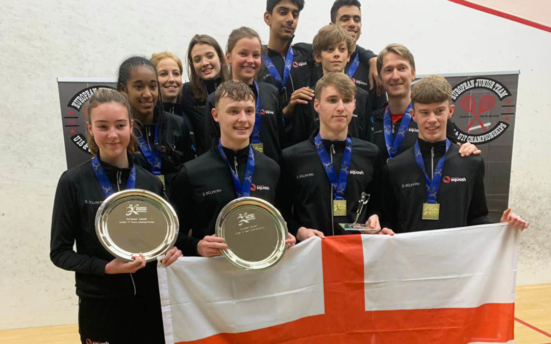 Yusef Sheikh and Emma Bartley help England to European junior titles
