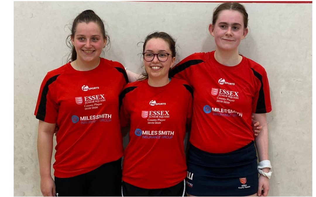 Essex Junior Squash says farewell and thanks to three terrific young ladies