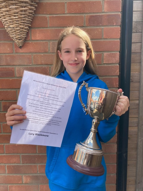 Lucy caps amazing year of squash with Mersea Island Achievement Award